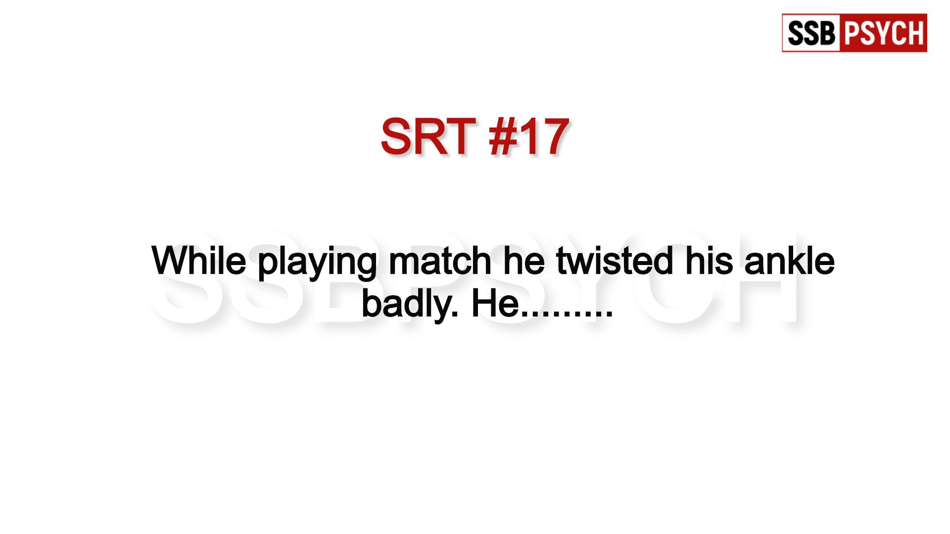SRT - Situation Reaction Test